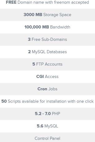 webbera免费空间配置