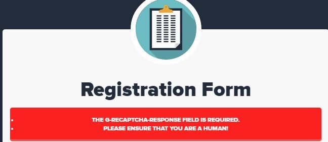 错误提示THE G-RECAPTCHA-RESPONSE FIELD IS REQUIRED